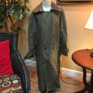 London Fog-Men's Trenchcoat/Leather Collar Size 40